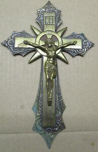 Kreuz aus Bronze Messing.22,5 X 14,5cm.