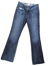 Paige Women's Hidden Hills High Rise Boot Cut Dark Blue Jeans Size 28