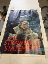 Original 1970 THE STRAWBERRY STATEMENT Movie Poster 29x43
