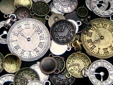 Tibetan Silver Golden & Bronze Clock Face Charms Pendant Jewellery Steampunk ML