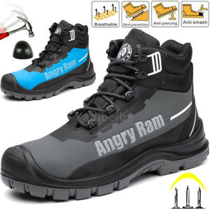 Mens Safety Boots Waterproof Trainers Steel Toe Cap Hiking Boots Work Size UK
