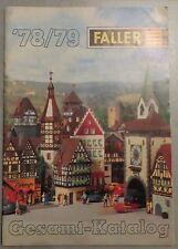 Faller Modellismo Anno Catalogo 1978/79