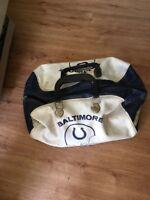 Vintage Baltimore Colts Vinyl Duffle Bag