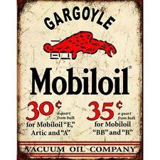 Mobil Gargoyle Distressed Rustic Retro Vintage Tin Sign 13 x 16in