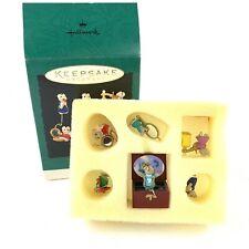 Vtg Hallmark Tiny Treasures Miniature Mice Ornaments Set of 6 Makeup Vanity 1995