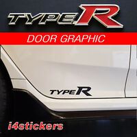 2015 - 2017 Honda Civic Type R side sticker, Decal, graphic FK8