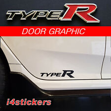 2015 - 2017 Honda Civic Type R side sticker, Decal, graphic