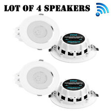 """Lot of (4) New! Pyle PDICBTL35 Bluetooth 2-Way 3.5"""" Ceiling/Wall Speakers"""