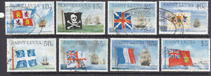 St Lucia 1996 Flags and Ships part set good to fine used