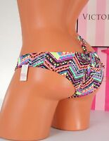 XS X-Small PINK VICTORIA'S SECRET VS Swim Back Ruched Cheeky Bikini Bottom ~NWT