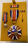 Super Rare SACO WWII Awarded Medal Set in Original Velvet Display Box, with COA