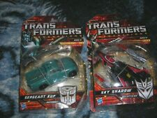 Transformers Generations Sergeant  Kup and DLX Sky Shadow On Card