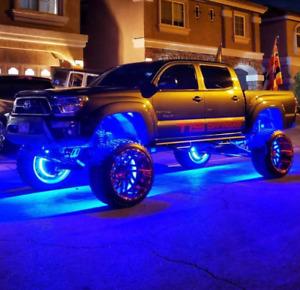 "4x15.5"" Red/Green/Blue Multiple Color Illuminated LED Wheel Rim Ring Lights"