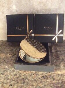 100%Authentic, Set Of 2 GUCCI Double G Beauty/compact Mirror-Brand new