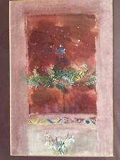 Original Framed Surrealist Watercolour signed MARGARET SHIELDS 'Winter' c1990