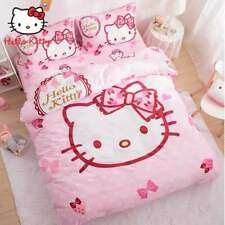 Hello Kitty Strawberry Bow Queen Bed Quilt Cover Set