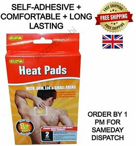 Heat Pads Pain Relief Large self adhesive Heat Patch Muscle Back Pads 2 4 6