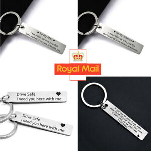 To My Men Keyring Valentines Day Gift For Her Him Couple Husband Key Ring UK