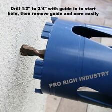 dry core bit with SDS Plus adapter and center guide Hvac, plumbing contractors