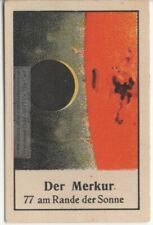 Mercury Planet Solar System Astronomy Telescope 1930s German Trade Ad Card