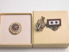 STERLING NAVY 2 SONS IN SERVICE PIN + GOLD STAR NEXT OF KIN PIN IN CARTON
