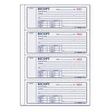 Rediform 8l808 Money Receipt Book 7 X 2 3/4 Carbonless Triplicate 100
