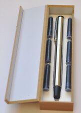 *NEW* METAL BODIED FOUNTAIN PEN IRIDIUM STEEL NIB WITH REFILLS, PUMP & GIFT BOX