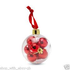 Pack De Mini Esfera en Un Grande Regalo Bola - Decoración Navidad Bola X 8 BN