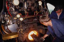 578061 Crescione VAPORE linea ferroviaria POMPIERE che alimentano il fuoco A4 FOTO STAMPA