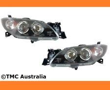 Black Head lights for Mazda 3 SP23 Neo Maxx 4 DOOR SEDAN 04-09 Right Left