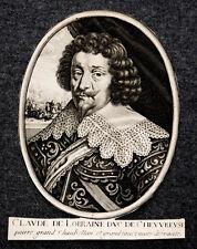 c1700 Claude de Lorraine Duc de Cheuvreuse Grand Fauconnier de France Portrait