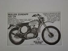 advertising Pubblicità 1973 MOTO MULLER 125 CR