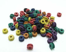 100 x Coloured TATTOO Needle Rubber 'H' Nipples for Gun Needle - UK!