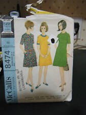 Vintage McCall's 8474 Teen Dress Pattern - Size 12T-14T Bust 31-33