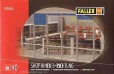 FALLER H0 1:87  ARREDAMENTO INTERNO PER NEGOZI  SHOP'S EQUIPMENT  ART 180565