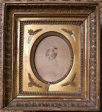 Jeanne Henriette RATH - Ancien tableau miniature - Superbe portait de femme