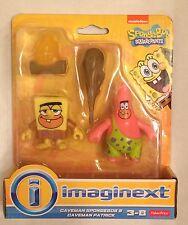Nib Fisher-price Imaginext Caveman Spongebob & Patrick Exclusive Action Figures