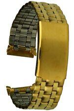 Acero Inoxidable IP Oro 18MM Recto Mapa de Rugosidad Correa Reloj Repuesto