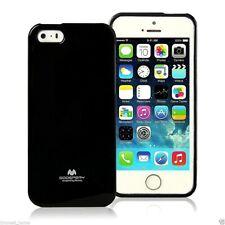 iPhone 5 5s and SE 2016 Genuine MERCURY Goospery Metallic Black Jelly Case