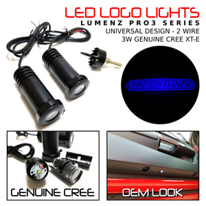 Lumenz C3 LED Courtesy Logo Lights Ghost Shadow for Freightliner 100928 Blue
