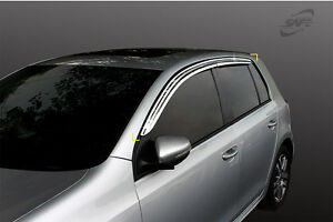 SAFE Chrome weather shields 4pcs for 2004 ~ 2013 Volkswagen Golf MK5 MK6 Hatch