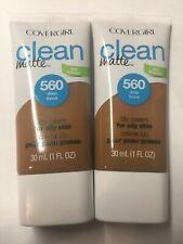 (2) Covergirl Clean Matte BB Cream, 560 Deep