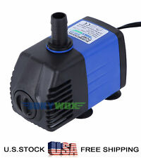 110V Submersible Water Pump 475.5GPH Fish Tank Pond Fountain Fall Hydroponic 15W