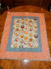 """Quilt animal for table or baby multicolor blanket 24x28"""""""