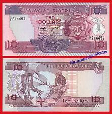 SALOMON SOLOMON ISLANDS 10 Dollars dolares 1986 Pick 15  SC / UNC