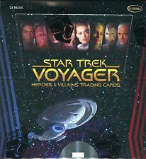 2 Factory Sealed Boxes of Star Trek Voyager Heroes & Villains trading cards
