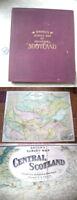 BACON'S SURVEY MAP OF CENTRAL SCOTLAND,ca1920, J. Bartholomew