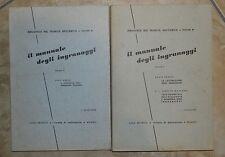 BROGGI & MACCAGNI - IL MANUALE DEGLI INGRANAGGI 1 E 2 VOL. - 1960/1962 (IC)