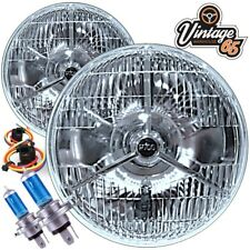 "Austin Mini LHD Euro Spec P700 7"" Sealed Beam Halogen Conversion H4 Headlights"