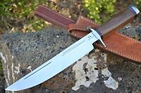 "HUNTEX Handmade Japanese D2 Steel 16"" Long Walnut Wood Hunting Bowie Dagger"